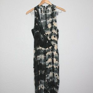 Rory Beca Silk Polka Dotted Tie Dye Jumpsuit sz S